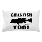 Girls Fish Too Pillow Case