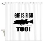 Girls Fish Too Shower Curtain