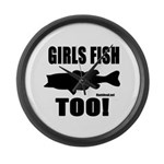 Girls Fish Too Large Wall Clock