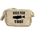 Girls Fish Too Messenger Bag