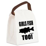 Girls Fish Too Canvas Lunch Bag