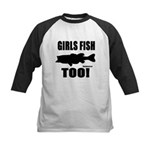 Girls Fish Too Baseball Jersey