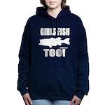 Girls Fish Too Women's Hooded Sweatshirt