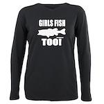 Girls Fish Too Plus Size Long Sleeve Tee