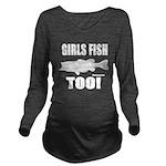 Girls Fish Too Long Sleeve Maternity T-Shirt