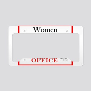 Hillary 2016 Oval Office License Plate Holder