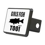 Girls Fish Too Rectangular Hitch Cover