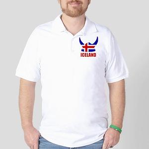 """Icelandic Viking """"Iceland"""" Golf Shirt"""