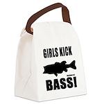 Girls Kick Bass Canvas Lunch Bag
