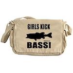 Girls Kick Bass Messenger Bag