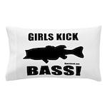 Girls Kick Bass Pillow Case