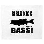 Girls Kick Bass King Duvet