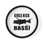 Girls Kick Bass Wall Clock
