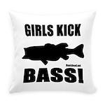 Girls Kick Bass Everyday Pillow