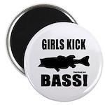 Girls Kick Bass Magnet Magnets
