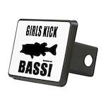 Girls Kick Bass Rectangular Hitch Cover
