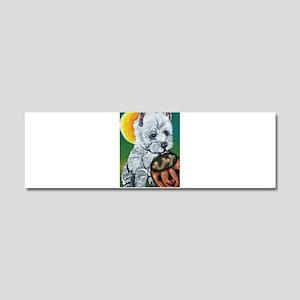 Halloween Westie Car Magnet 10 x 3