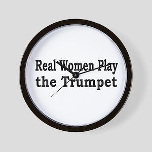 Real Women Play Trumpet Wall Clock