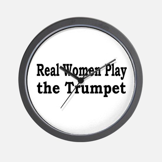 Real Women Play Trumpet Wall Clock