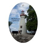 Marblehead Lighthouse Oval Ornament
