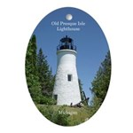 Old Presque Isle Lighthouse Oval Ornament