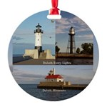 Duluth Entry Lights Aluminum Round Ornament