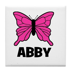 Butterfly - Abby Tile Coaster