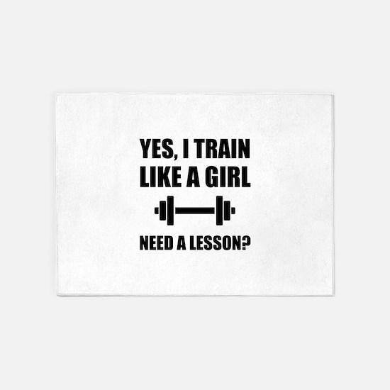 Like A Girl Train 5'x7'Area Rug