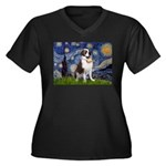 Starry / Saint Bernard Women's Plus Size V-Neck Da