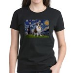 Starry / Saint Bernard Women's Dark T-Shirt
