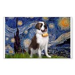 Starry / Saint Bernard Sticker (Rectangle)