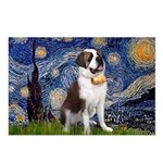 Starry / Saint Bernard Postcards (Package of 8)