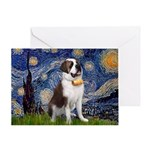 Starry / Saint Bernard Greeting Card