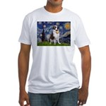 Starry / Saint Bernard Fitted T-Shirt