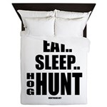 Eat, Sleep, Hog Hunt Queen Duvet