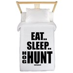 Eat, Sleep, Hog Hunt Twin Duvet