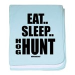 Eat, Sleep, Hog Hunt baby blanket