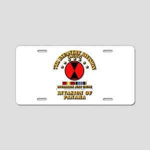 Just Cause - 7th Infantry D Aluminum License Plate