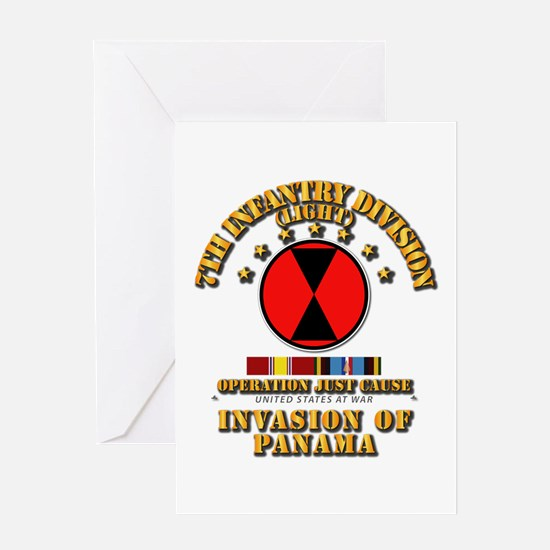 Just Cause - 7th Infantry Division w Greeting Card