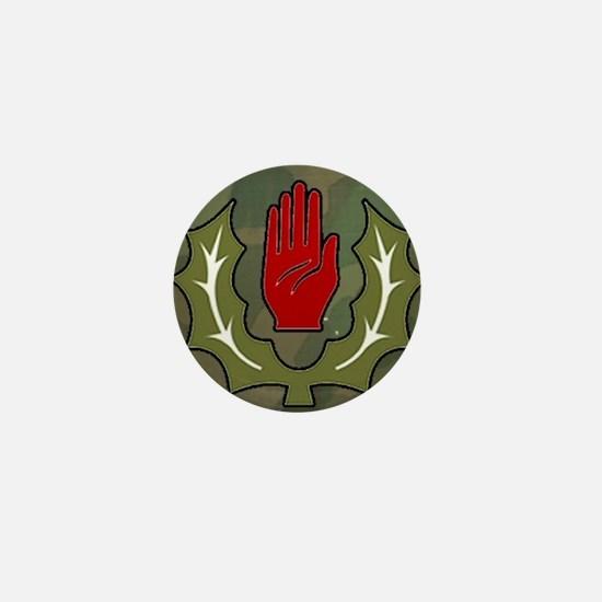 Red hand & thistle camo Mini Button