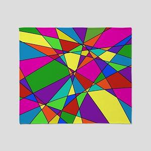Geometric Chaos Throw Blanket