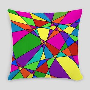 Geometric Chaos Everyday Pillow