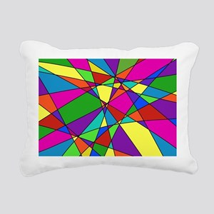 Geometric Chaos Rectangular Canvas Pillow