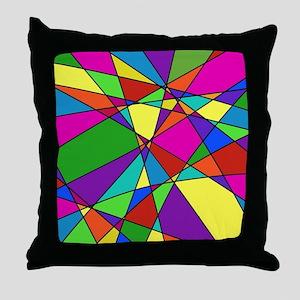 Geometric Chaos Throw Pillow