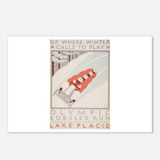 Winter Olympics - Bobsled Postcards (Package of 8)