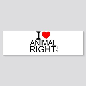 I Love Animal Rights Bumper Sticker