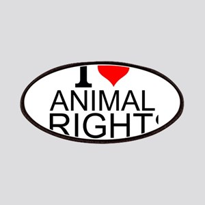 I Love Animal Rights Patch