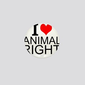 I Love Animal Rights Mini Button