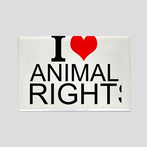 I Love Animal Rights Magnets