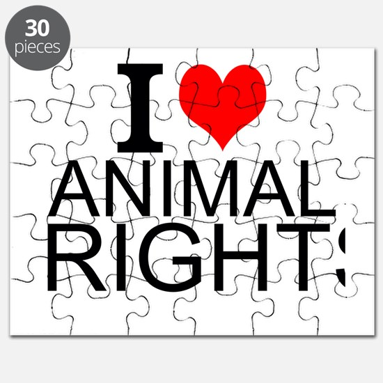 I Love Animal Rights Puzzle